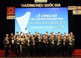 Công bố 63 doanh nghiệp đạt Thương hiệu quốc gia 2014