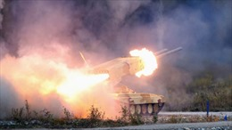 Phe ly khai Ukraine lần đầu sử dụng 'rồng lửa' Buratino