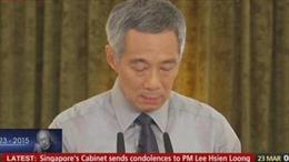 Singapore để quốc tang 7 ngày cố Thủ tướng Lý Quang Diệu