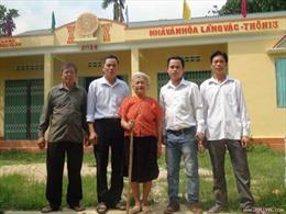 Cụ bà nghèo tình nguyện  hiến đất xây dựng nông thôn mới