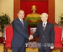 Tổng Bí thư tiếp Đoàn đại biểu Đảng NDCM Lào