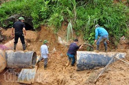 Quảng Ninh khắc phục đường ống cấp nước sạch cho dân