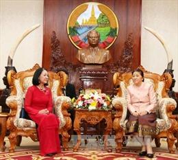 Chủ tịch Quốc hội Lào tiếp đoàn đại biểu Quốc hội Việt Nam