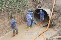 Hà Nội cấp nước luân phiên do sự cố vỡ đường ống sông Đà