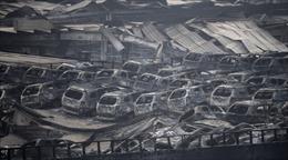 Quan sát toàn cảnh vụ nổ Thiên Tân từ trên cao