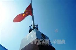 Khánh thành cột cờ chủ quyền tại đảo tiền tiêu vùng Đông Bắc
