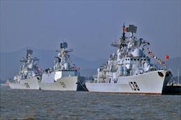 Tàu Hải quân Trung Quốc lần đầu xuất hiện ngoài khơi Mỹ