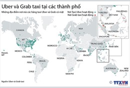 Taxi Uber và Grab tại các thành phố