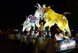 Tuyên Quang: Hàng nghìn người xem rước đèn Trung thu khổng lồ