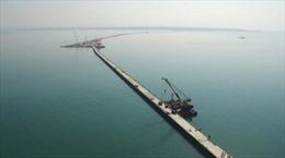 Nga khẩn trương xây cầu nối liền bán đảo Crimea