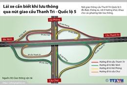 Lái xe cần biết khi qua nút giao cầu Thanh Trì-Quốc lộ 5