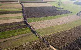 """Hàng ngàn người di cư rồng rắn trên """"con đường Balkan"""""""