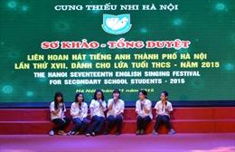 Liên hoan hát tiếng Anh học sinh Thủ đô Hà Nội