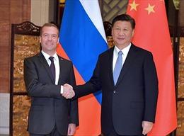 Chủ tịch Trung Quốc gặp Thủ tướng Nga Medvedev