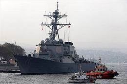 Nga điều tàu hộ tống bảo vệ giàn khoan ở Biển Đen