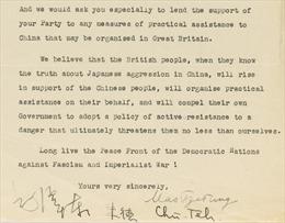 Bức thư Mao Trạch Đông gửi Công đảng Anh giá gần 1 triệu USD