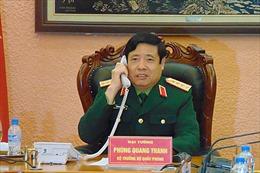 Bộ trưởng Quốc phòng Việt Nam và Trung Quốc điện đàm