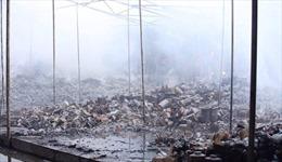Hỏa hoạn thiêu rụi xưởng gốm sứ ở Bát Tràng