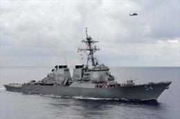 Tàu khu trục Mỹ vào vùng 12 hải lý quanh đảo Trung Quốc chiếm trái phép