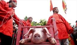 Không tổ chức chém lợn giữa sân đình làng Ném Thượng