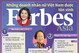 Những nữ doanh nhân Việt được Forbes tôn vinh