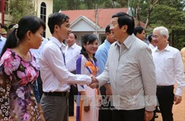 Chủ tịch nước thăm bộ đội, đồng bào biên giới Lộc Ninh, Bình Phước