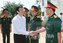 Chủ tịch nước thăm bộ đội, đồng bào các dân tộc Đắk Nông