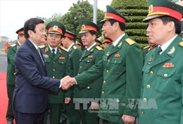 Chủ tịch nước kiểm tra sẵn sàng chiến đấu tại Quân đoàn 1