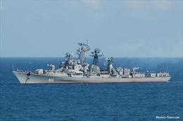 Tàu chống hạm Nga phóng ngư lôi ở Thái Bình Dương