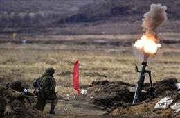 Quân khu miền Đông Nga diễn tập pháo binh