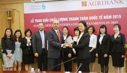 Agribank nhận giải thưởng Chất lượng thanh toán quốc tế