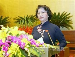 Chủ tịch Quốc hội phát biểu bế mạc kỳ họp thứ 11