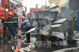 Cháy xưởng gỗ, thiệt hại nhiều tỷ đồng