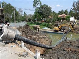 Tân Phú Đông chật vật đối phó hạn, mặn