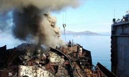 Tàu ngầm hạt nhân Nga bốc cháy
