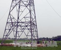 Khắc phục xong sự cố đổ cột điện 500kV Quảng Ninh-Hiệp Hòa