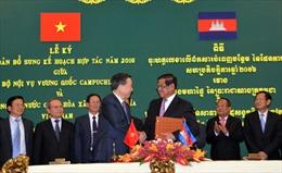 Bộ trưởng Bộ Công an Tô Lâm thăm, làm việc tại Campuchia