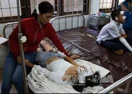 Nổ bình ga mi ni, 5 học sinh bị bỏng