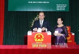 Chủ tịch nước bỏ phiếu bầu cử tại quận Thanh Xuân, Hà Nội