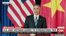 Truyền thông quốc tế đưa tin việc Hoa Kỳ dỡ bỏ cấm vận vũ khí Việt Nam