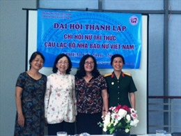 Ra mắt Chi hội Nữ trí thức Câu lạc bộ Nhà báo nữ Việt Nam