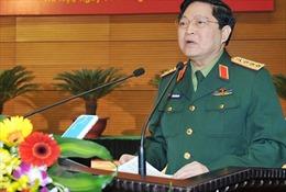 Bộ trưởng Ngô Xuân Lịch làm việc với Tổng cục Hậu cần và Tổng cục Kỹ thuật