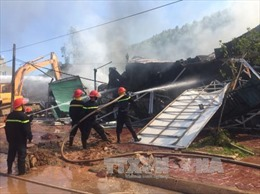 Hỏa hoạn tại siêu thị đồ gia dụng ở Thanh Hóa