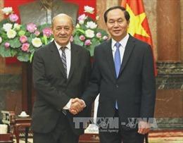 Chủ tịch nước tiếp Bộ trưởng Quốc phòng Pháp và Ấn Độ