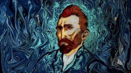 Vẽ tranh Van Gogh trong chậu nước đen màu