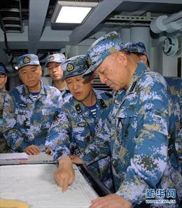 Tư lệnh hải quân Trung Quốc đích thân chỉ đạo diễn tập ở Biển Đông