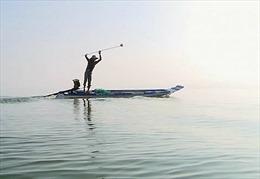 Dùng kích điện tận diệt cá lòng hồ sông Đà