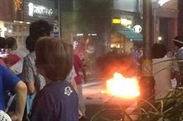 Cảnh sát Nhật Bản điều tra vụ ném bom xăng vào một lễ hội