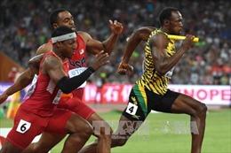 """""""Tia chớp"""" Usain Bolt thống trị đường chạy 100m Rio"""