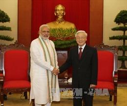 Tổng Bí thư tiếp Thủ tướng Ấn Độ Narendra Modi
